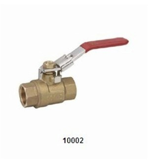 10002 BRASS BALL VALVE (LOCKING HANDLE)