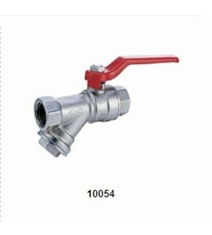 10054 BRASS BALL VALVE WITH FILTER
