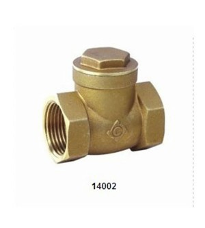 14002 BRASS SWING CHECK VALVE
